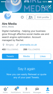 Image of Twitter Aire Media